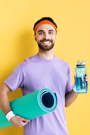 Man With Workout Gear